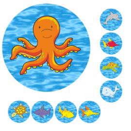 Megaset Beloningskaarten met grote stickers
