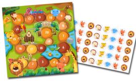 Plaskaart met stickers complete set - Dierentuin