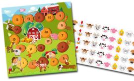 Plaskaart met stickers complete set - Boerderij