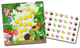 Reward chart with stickers - Tiny Insects