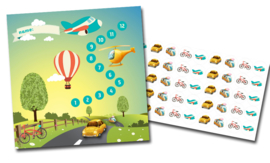 Reward chart with stickers - Transport
