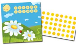 Plaskaart met stickers complete set - Zomerzon