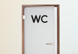 Deursticker WC