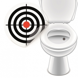 Toilet Stickers Bulls-eye - 4 Stickers