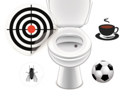 Toilet Stickers Set Grote Mannen - 4 Stickers