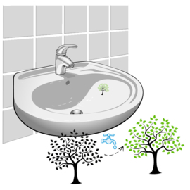 "Colour Changing Wash Hands Stickers ""Tree"" - 2 Stickers"
