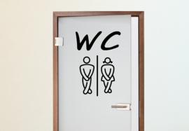 Deursticker WC 2