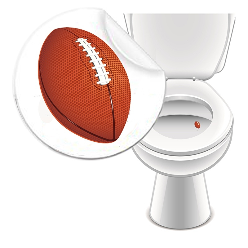 Toilet Stickers American Football - 2 Stickers