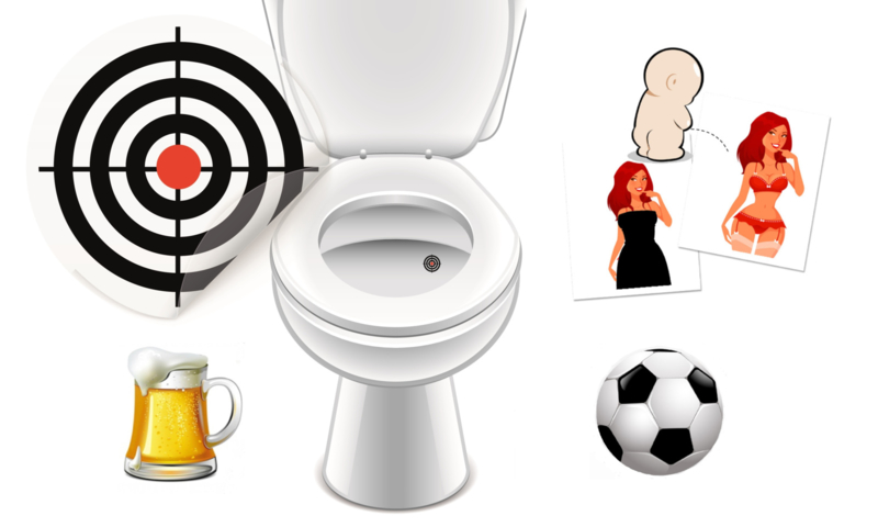Toilet Stickers Set Grote Mannen II - 4 Stickers
