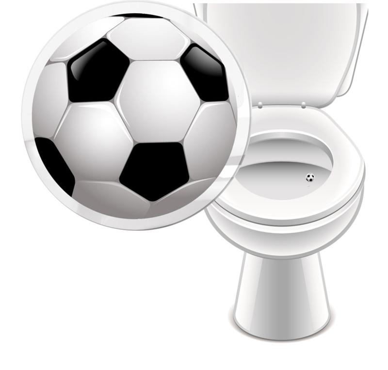 Toilet Stickers Voetbal - (20 Stuks)