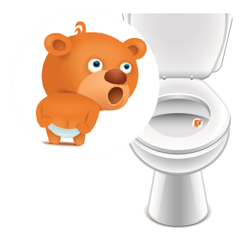 Toilet Stickers Beertje - 4 Stickers