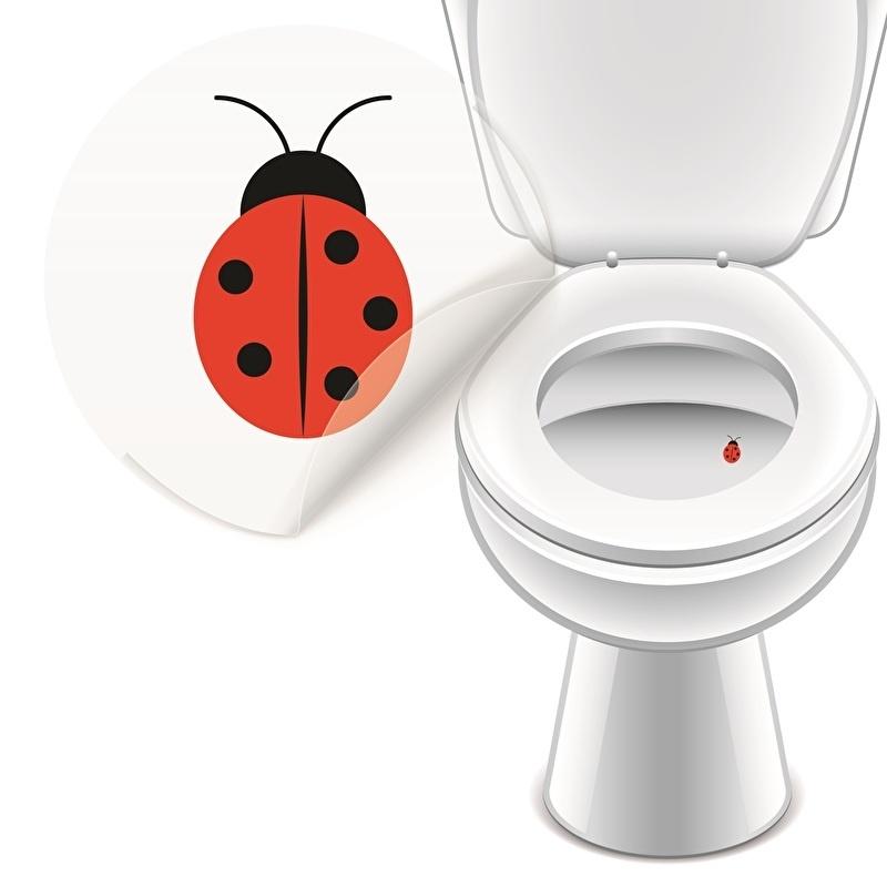 Toilet Stickers Lieveheersbeestje - 4 Stickers