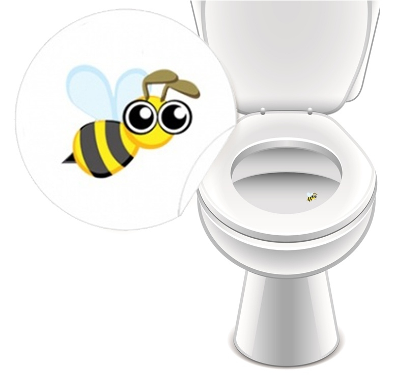 Toilet Stickers Bij - 2 Stickers