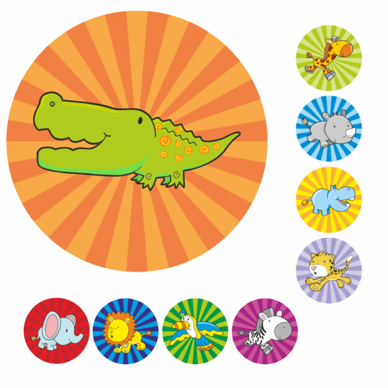 Plaskaarten met grote stickers - Feestende beestjes - Topkwaliteit
