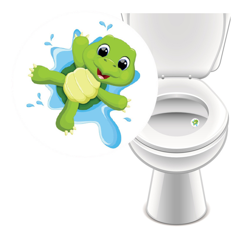 Toilet Stickers Turtle - 4 Stickers