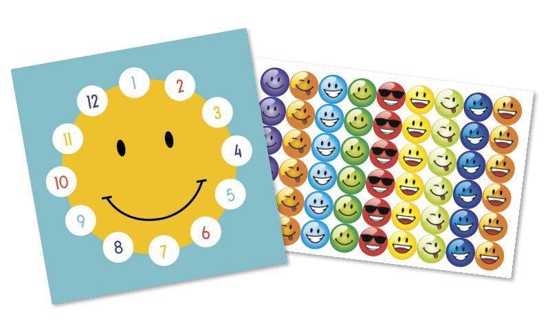 Plaskaarten met grote stickers - Smiley - Topkwaliteit