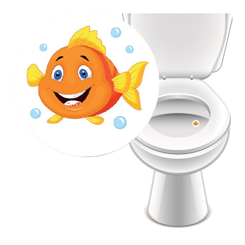 Toilet Stickers Nemo - 4 Stickers