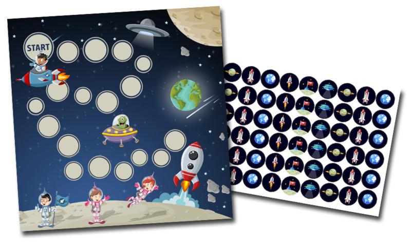 Plaskaart met stickers voor Jongens - Mega Set