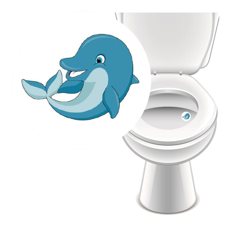 Toilet Stickers Dolfijn - (100 Stuks)