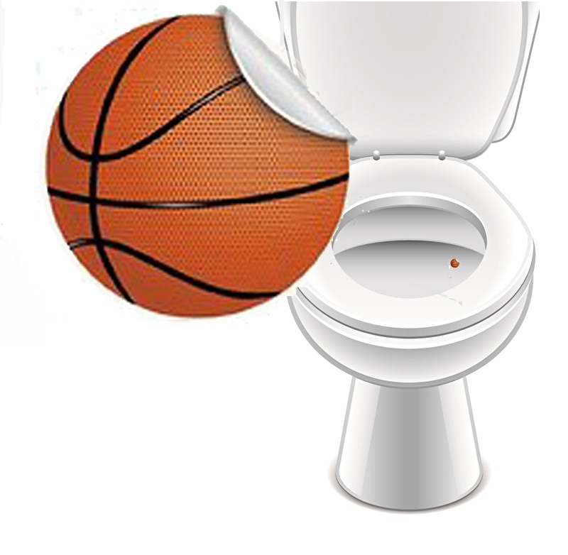 Toilet Stickers Basketbal - 2 Stickers