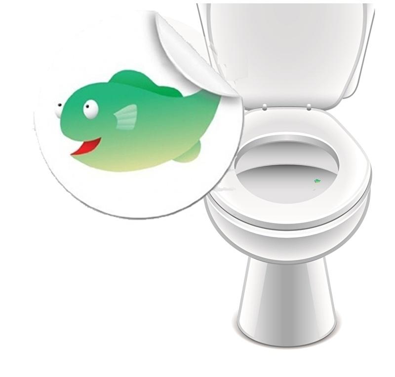 Toilet Stickers Vis - 2 Stickers