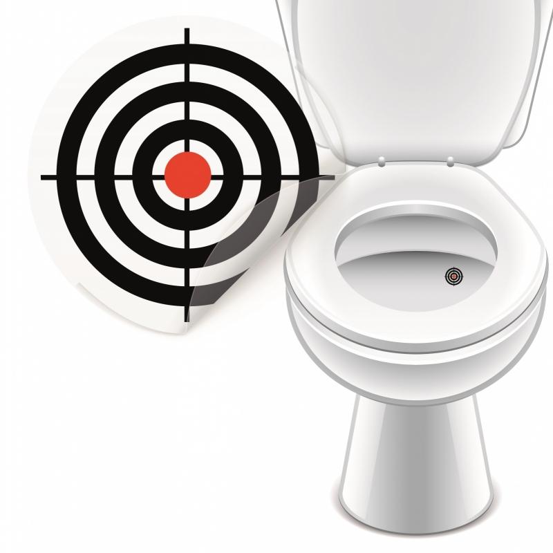 Toilet Stickers In de Roos - (20 Stuks)