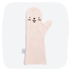 Shower Glove Pink Beaver