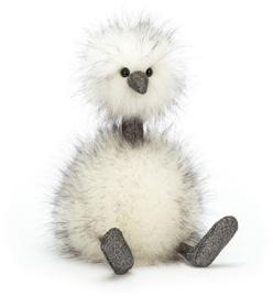 Jellycat knuffel pompom struisvogel 14