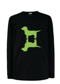 KIDS Upside Up Dog Shirt   grijs, wit of zwart