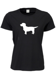 DAMES Sof-Tee with the Dog | zwart
