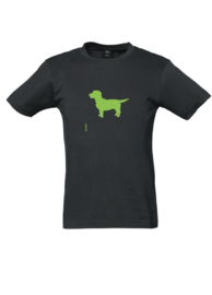 KIDS Tee With The Dog | donkerblauw of -grijs