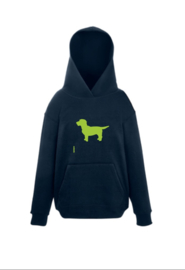 KIDS Hoodie with the Dog | grijs of donkerblauw