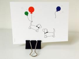 ANSICHTKAART | ballonfeest!