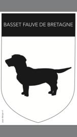 Basset Fauve de Bretagne (auto)sticker