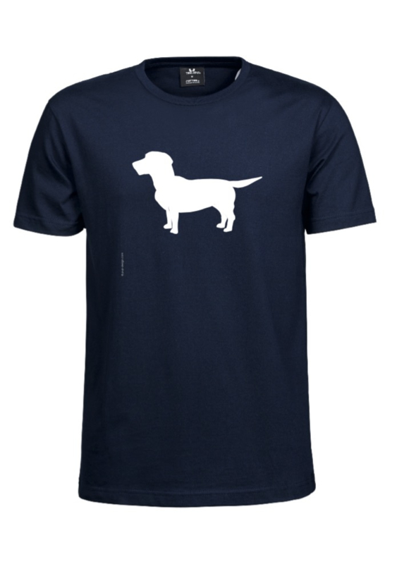 HEREN Sof-Tee with the Dog | donkerblauw