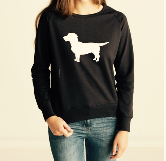 DAMES Favorite Sweat with the Dog | zwart