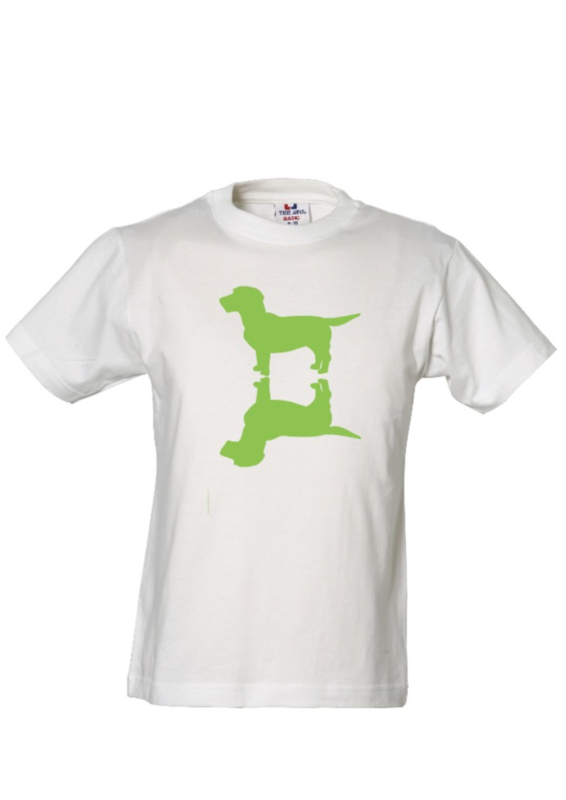 KIDS Upside Up Dog Tee |  wit of donkerblauw
