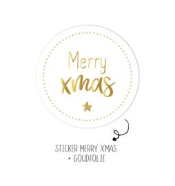 500 stickers | Merry XMAS