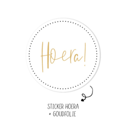 500 stickers | Hoera wit
