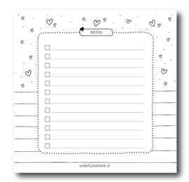 Mini notebook | Notities | Small white