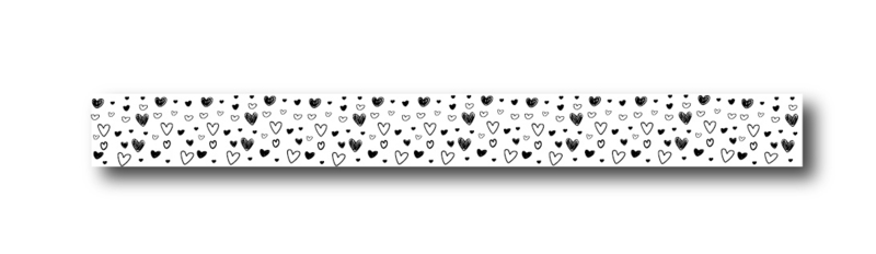 Masking tape | Little hearts | per stuk
