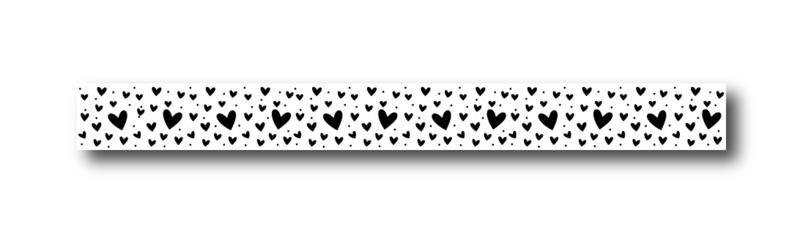 Masking tape | Hearts all over | voordeelset  10 stuks