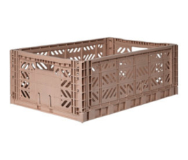 Aykasa folding crate maxi box - Taupe