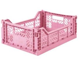 Aykasa folding crate midi - Baby pink