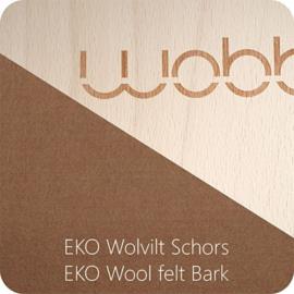 Wobbel - Original blank gelakt vilt schors
