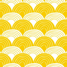 Swedish linens - Rainbow mustard yellow 60x120