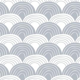 Swedish linens - Rainbow tranquil gray
