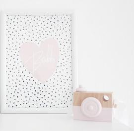 Manowoods - Houten camera roze