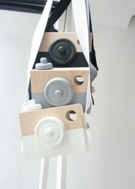 Manowoods - Houten camera zwart