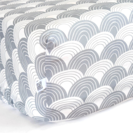 Swedish linens - Rainbow tranquil gray 70x160